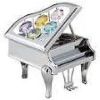 CRYSTOCRAFT Freestanding Ornamental Piano made with Swarovski Crystals