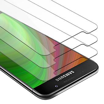 Cadorabo Tank Foil for Samsung Galaxy A7 2016 - 3 Pack Tempered Display Protective Glass in 9H Hardness with 3D Touch Compatibility