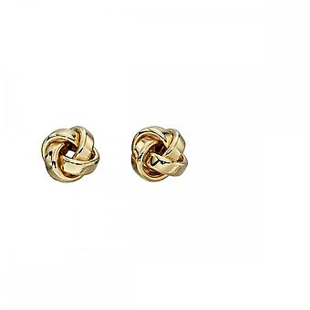 Elements Gold Yellow Gold Knot Studs Earrings GE2201