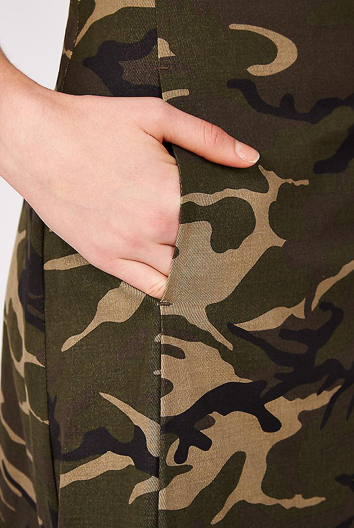 Valley of the Dolls Greenfield Camo Print Skirt Khaki