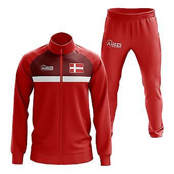Danmarks koncept fodbold-træningsdragt (rød)
