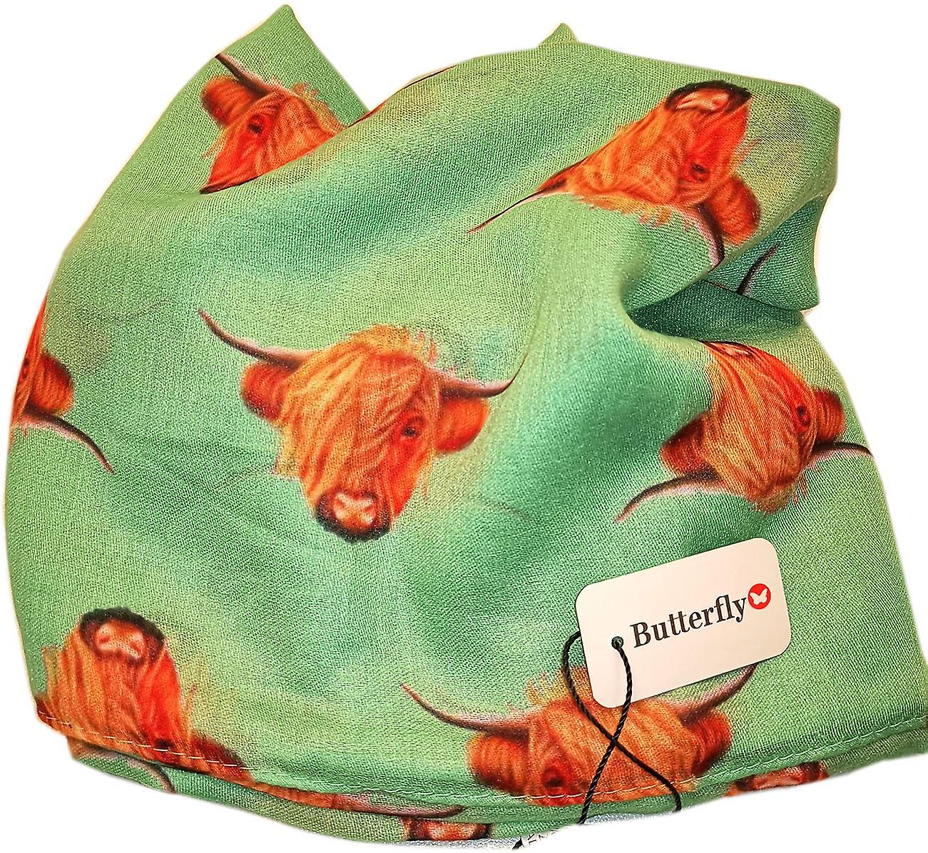 Green Highland Cow Scarf by Butterfly