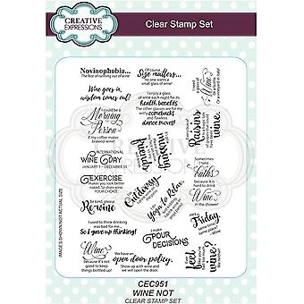 Creative Expressions Sue Wilson Clear Stamp Set Wine Not