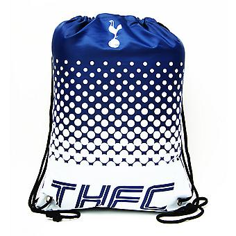 Tottenham Hotspur FC Official Fade Football Crest Drawstring Sports/Gym Bag