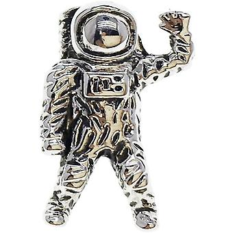 Bassin and Brown Astronaut Lapel Pin Skull Jacket Lapel Pin - Silver