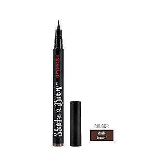 Ardell Beauty Stroke A Brow Water Resistant Eyebrow Feathering Pen Dark Brown