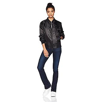 Starter Women's Lightweight Bomber Jacket,  Exclusive, Black, Small