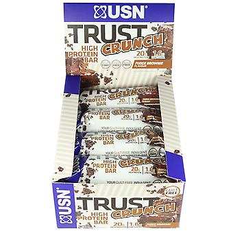 USN Trust Crunch Fudge Brownie Box Of 12 Bars