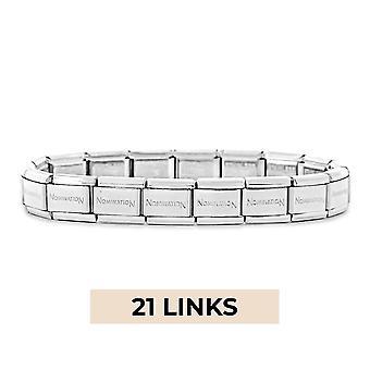 Nomination Classic 21 Link Composable Silver Steel Starter Bracelet 030000/SI/21