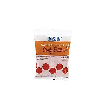PME Natural Candy Buttons - Orange - 200g