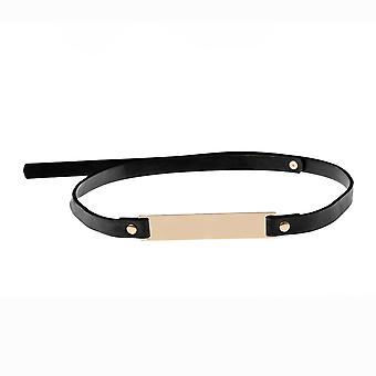 10mm Women OBI Band Waist Belt with Gold Buckle
