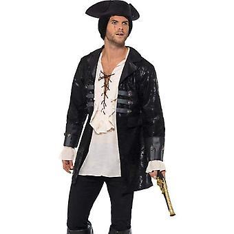 Buccaneer Pirate Jacket Adult Black