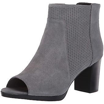 Bella Vita Women's Luna Ankle Boot Grey Suede LEA 6.5 XW US