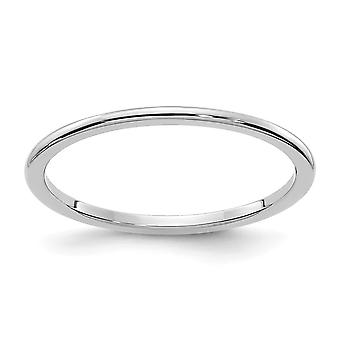 10kw 1.2mm Half Round Stackable Band Ring Jewelry Gifts for Women - Ring Size: 4 to 10