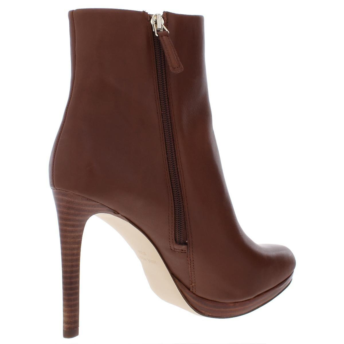 Nine West Womens quanette Leather Almond Toe Ankle Fashion Boots
