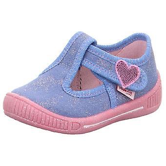 Superfit Girls Bully 265-85 Chaussures en toile Bleu clair