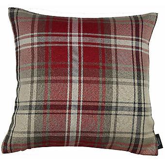 McAlister tekstiilit Angus Tartan tarkistaa punainen + valkoinen tyyny