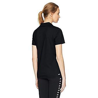 Starter Women's Standard Short Sleeve Performance Pique Polo, Black, X-Large