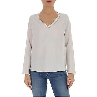 Fabiana Filippi Tpd260w777a5890104 Women's White Cotton Sweater