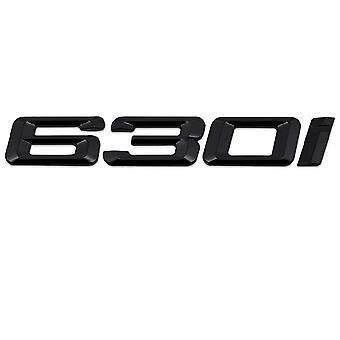 Gloss Черный BMW 630i Модель автомобиля Задняя загрузка номер письмо наклейка Наклейка наклейка наклейка для эмблемы значка для 6 серии E63. E64 F06 F12 F13 G32