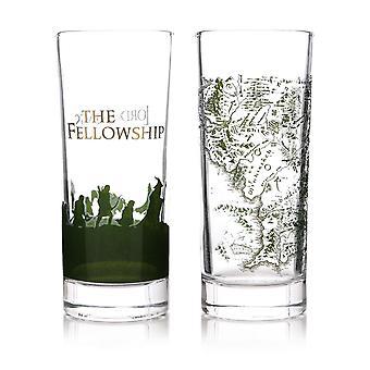 Der Herr der Ringe Gläserset 2 Stück transparent, 100 % Glas, Fassungsvermögen ca. 275 ml., in Geschenkverpackung.