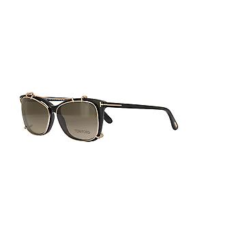 Tom Ford TF5514 Clip-On 28K Shiny Rose Gold/Brown Gradient Sunglasses
