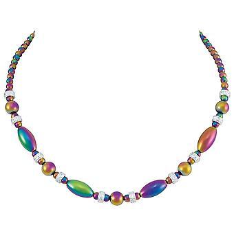evig samling visjon regnbue hematitt beaded halskjede
