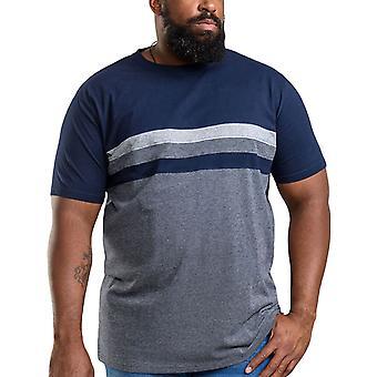 Duke D555 Mens Cookson Big Tall King Size Crew Neck Casual T-Shirt Top - Navy