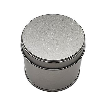 250g silver welded seam candle tin with solid step lid - box of 100