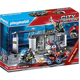 Playmobil 70338 City Action Take Along Tactical Unit Headquarters 139PC Playset