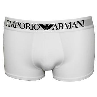 Emporio Armani Ikonisk logoband Boxer Trunk, Hvid