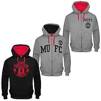 Manchester United FC Official Football Gift Mens Graphic Fleece Hoody
