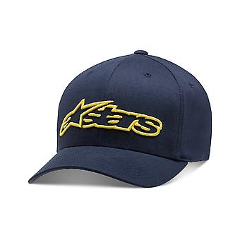 Alpinestars Blaze Flexfit Cap in Navy / Yellow