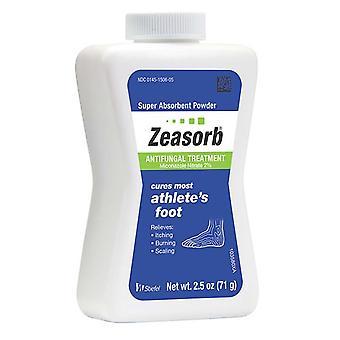 Zeasorb super absorbent powder antifungal treatment, 2.5 oz
