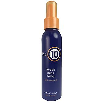 It's a 10 miracle shine hair spray with noni oil 4 oz.