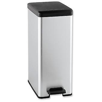 Decorado de curver cubo delgado 40L plata 250 X 420 X 610 (cocina, basura y reciclo, cubo)