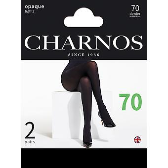 Charnos 70 Denier Opaque Tights 2 Pair Pack