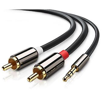3.5mm to 2x RCA stereo audio cable - 2m