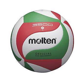 Molten V5M3500 Indoor Outdoor Leather Volleyball Ball White/Red/Green - Size 5