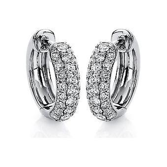 Diamond earrings earrings - 18K 750/- white gold - 1.2 ct. - 2A066W8-2