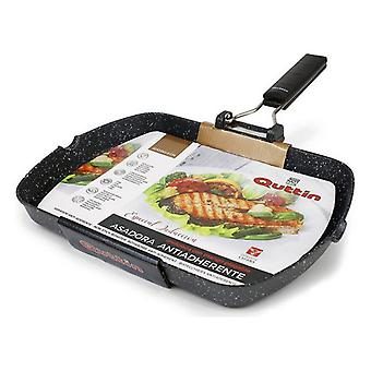 Grill pan with stripes Quttin Toughened aluminium Non-stick/28 x 3,8 cm