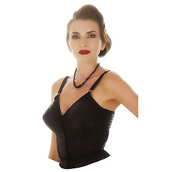 What Katie Did Kate Black Longline Cone Bra L6101