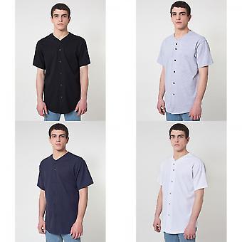 American Apparel Mens dik-Knit Short Sleeve Baseball T-Shirt