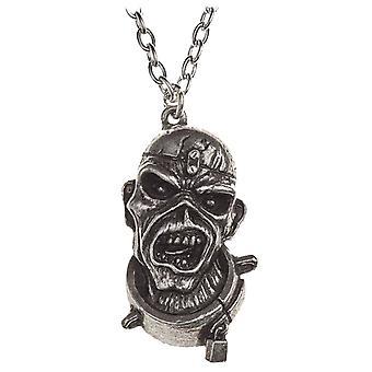 Iron Maiden halsband hänge bit av sinne Eddie nya officiella alkemi Silver