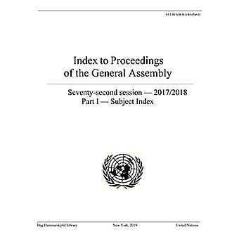 Index to proceedings of the General Assembly - seventy-second session