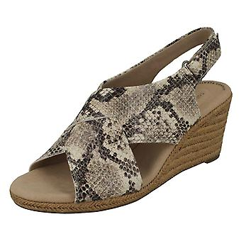 Ladies Clarks Slingback Wedge Heel Sandals Lafley Alaine