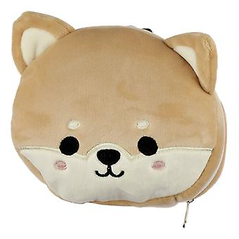 Resteazzz Plush Cutiemals Shiba Inu Dog Travel Pillow & Eye Mask