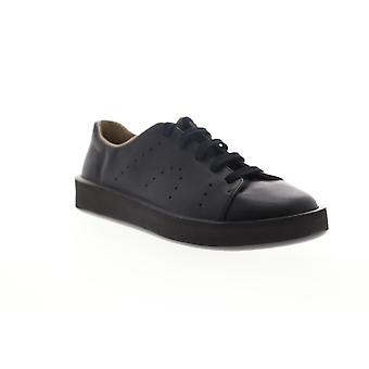 Camper Courb  Mens Black Leather Lace Up Low Top Sneakers Shoes