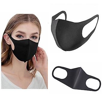 Face Mask, Black Washable Reusable Anti Dust Cloth Mask