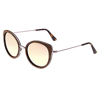 Earth Wood Oreti Polarized Sunglasses - Monzo/Rose Gold